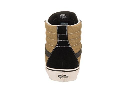 Furgoni Unisex Sk8-hi Ristampa (vintage) Nero / Oliva Scarpa Da Skate 11 Uomini Us