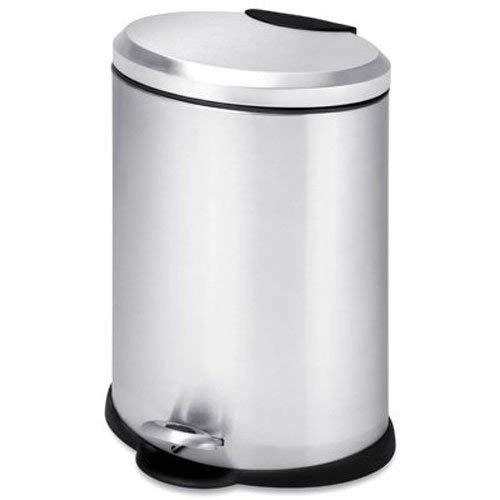 (Honey-Can-Do 12l Oval Stainless Steel Step can, 12-Liter, Grey)