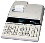 Monroe ULTIMATE Desktop 12 Digits Print/Display Calculator, IKT, Black