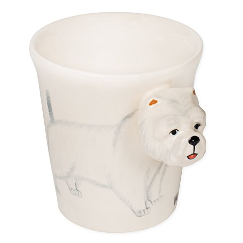 - Westie Terrier Dog 8 oz. Ceramic Stoneware Hand Painted Coffee Mug