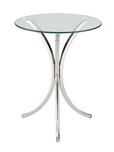 (Coaster 902869-CO Accent Table, Chrome Finish)