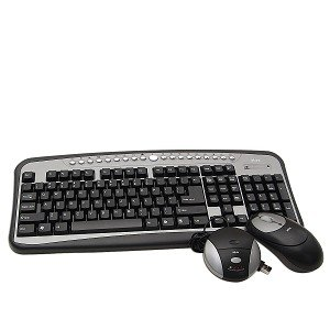 Wireless Rf Mouse Optical Silver (Ativa AT-K350 Wireless Multimedia Keyboard & Optical Mouse Kit (Black/Silver))