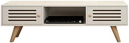 TVボード テレビキャビネットホームキャビネットリビングルームホームテレビコンソールエンターテイメントセンター テレビ台 (色 : White With door, Size : 120x30x42cm)