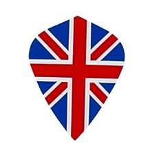 5 Sets of 3 Dart Flights - MK9 - Union Jack British Flag Kite Shape Poly Super Metronic Flights
