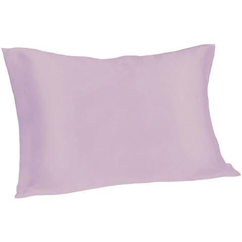 Spasilk 100% Pure Silk Pillowcase for Facial Beauty and Hair Health, Standard/Queen, Lavender - Health And Beauty