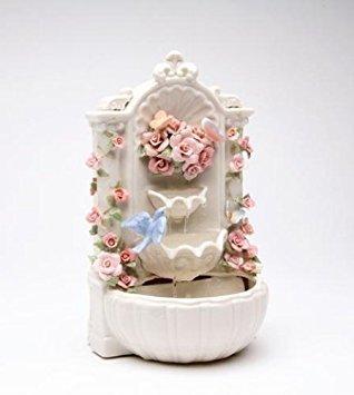 Cosmos SB49056 Fine Porcelain Floral Fountain Musical Figurine, 8-7/8-Inch]()