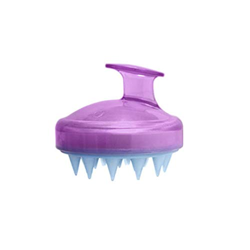 1Pcs Spa Hair Brush Silicone Shampoo Brush Wide Tooth Comb Hair Washing Comb Scalp Massage Slimming Soft Brush Head Body Massage Purple