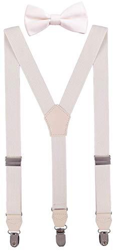 CEAJOO Baby Boys' Bow Tie and Suspenders Set Adjustable Y Back 24