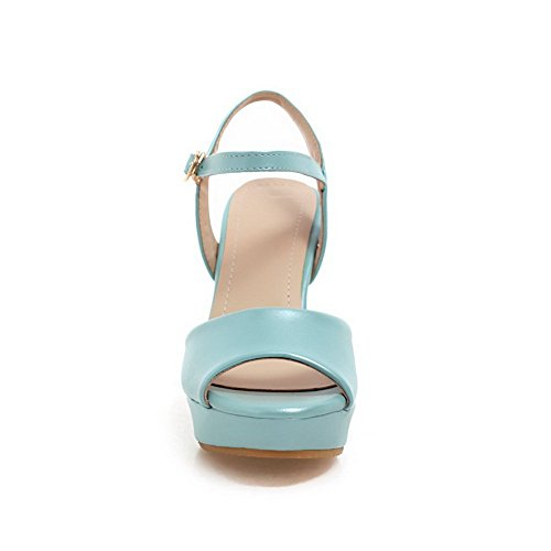 M High 5 1TO9 Patent Girls Rain US 7 Sandals Leather Blue B Heels 1gUwxq
