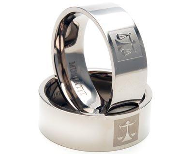 New Mens Titanium Ring - New Titanium Ring, Men's Rings, Titanium Bands, Justice Brand Jewelry
