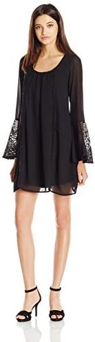 Sequin Hearts by My Michelle Juniors Long Bell-Sleeve Dress
