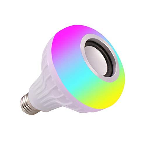 LED Light Music Bulb Changing Colors WiFi 4.0 Bluetooth Wireless Control Stereo Audio Smart Speaker Mini Amplifier Creative Design