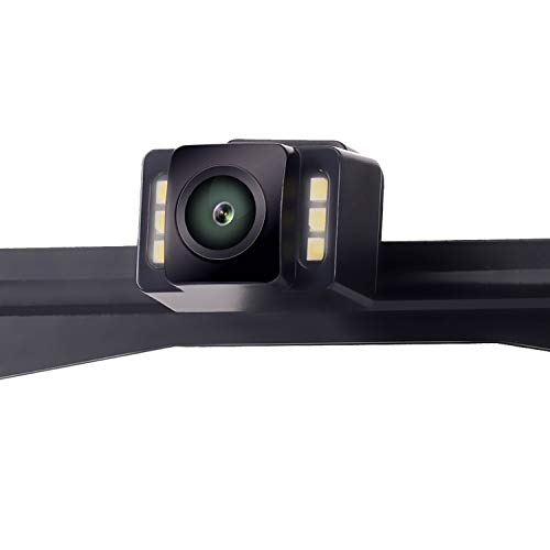 LeeKooLuu 2019 HD 720P Car Backup Camera 6 Auto LED Lights Color HD Rear View/Front View Camera IP69 Waterproof Super Night Vision Guide Lines ON/Off