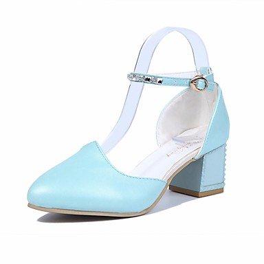 ggx Eté à Rose Femme Blanc Chaussures Plat blue Polyuréthane Bleu Talons LvYuan TdZqw4T