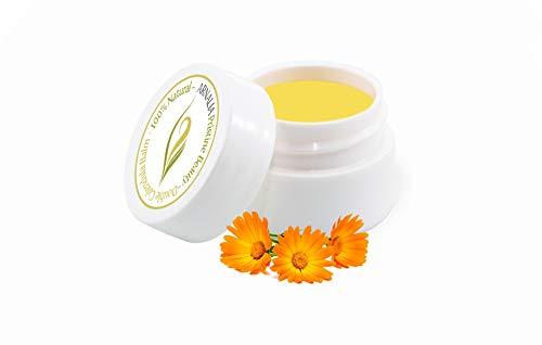 ARNALIA Calendula 100% Natural & Organic Wild Herbs Gentle Eye & Face Cosmetic Balm; Emollient Anti Aging Moisturizer Cream; Soothing, Hydrating; Sensitive, Normal Skin; Rosacea, Eczema (0.3oz)
