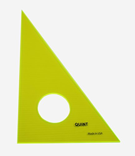 Triangle Inking - QUINT Premium Professional Fluorescent Green Acrylic Inking Edge Triangle 30/60 - 12