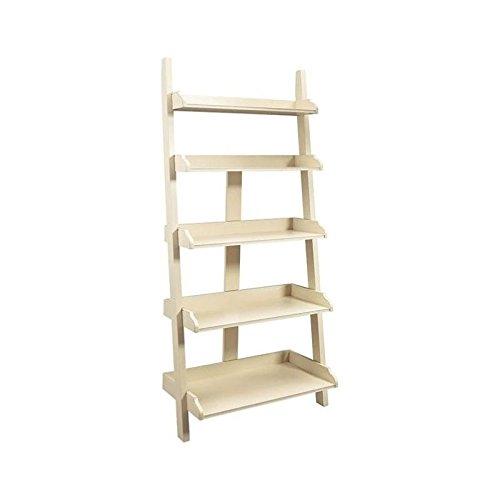 Antique Buttermilk Finish - Beaumont Lane Ladder Wall Storage Bookcase in Buttermilk