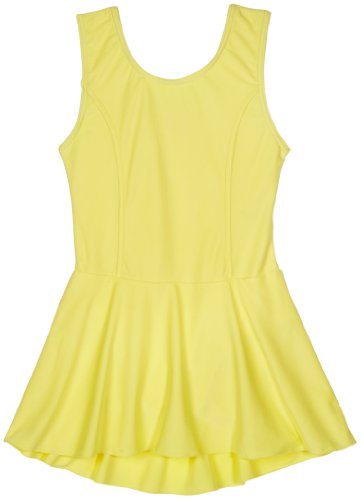 Sansha Big Girls' Fiona Leotard Tank w/ Skirt, Wax Yellow ,Large(F)/10-12 (Sansha Skirt)