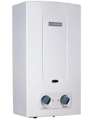 Bosch T2200 - Calentador de agua a gas instantáneo con cámara abierta y tiro natural,