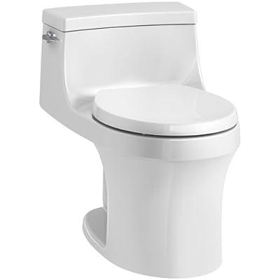 KOHLER San Souci Round-Front 1.28 GPF Toilet with AquaPiston Flushing Technology and Left-Hand Trip Lever