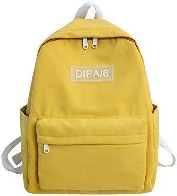 AMNVBD Mochila de algodón de poliéster de Color Puro, Bolsa Suave for Mujer, Mochila de Viaje for Adolescentes, Libros Lindos (Color : Yellow, Size : 30cm16cm38cm): Amazon.es: Hogar