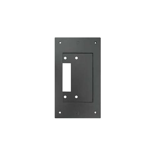 Aiphone Corporation JK-MB Mullion Mounting Bracket for JK-DV, JF-DV, or JO-DV Door Stations, Aluminum, 6-13/16'' x 3-7/8'' x 3/16'', Black by Aiphone Corporation