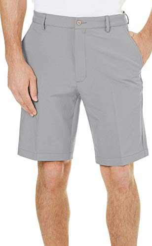 Greg Norman Collection Mens Stretch Core Shorts 42W Chrome Grey (Greg Norman Apparel)