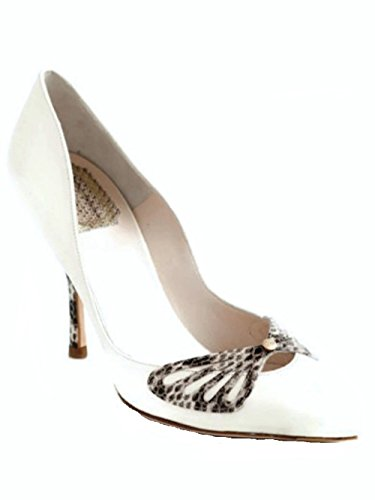 Christian Dior White Leather - Dior Christian Butterfly Off White Leather Pumps Size 39 US 9
