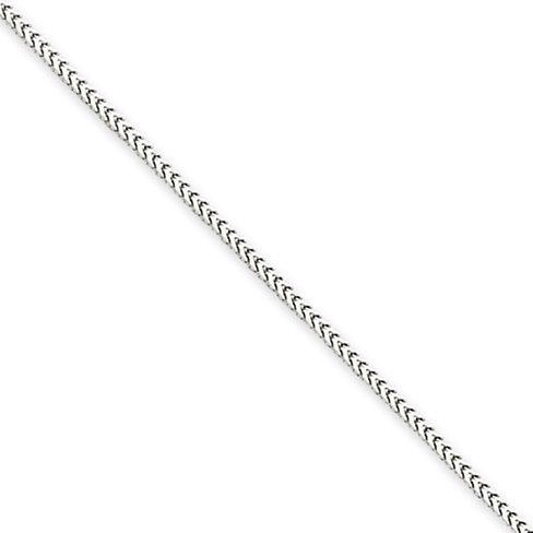 Or blanc 18carats 1mm Tube rectangulaire Franco Collier de 50cm