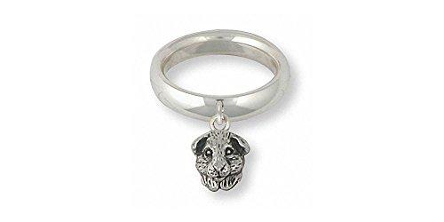Guinea Pig Jewelry Sterling Silver Guinea Pig Ring Handmade Piggie Jewelry GP4H-SR