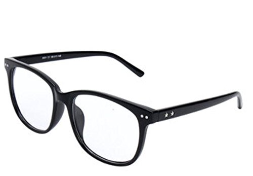 Color:Black # Fashion Spectacles Eyeglass Full Rim Frames Men Women Optical Eyewear Glasses by - Half Rim Oakley Frames