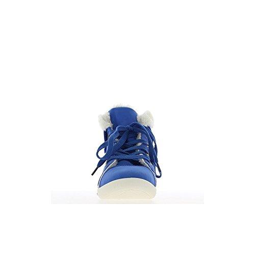 Baskets femme montantes bleues fourrées