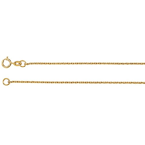 - LooptyHoops 14K Yellow Gold Twisted Wheat Chain Necklace, 18