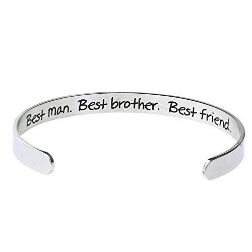 O.RIYA Best man Best Brother Best Friend Cuff Bracelet (White) for $<!--$12.99-->