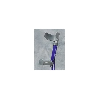 Youth Forearm Crutch - 1 Pair Forearm Crutch w/ Half Cuff - Epoxy-coated youth forearm crutches with open half cuff. Height adjustable grip to floor from 23