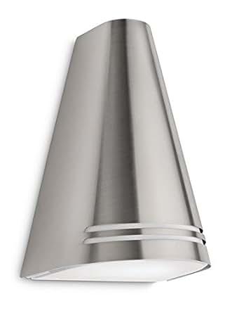 Philips myGarden Woods - Aplique, iluminación exterior, 15 W, casquillo E27, IP44, color gris