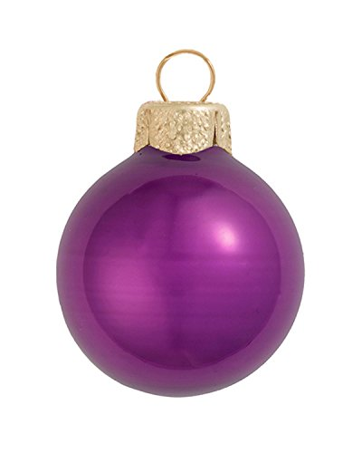Soft Plum Ball Ornament - 40ct Pearl Soft Plum Purple Ball Christmas Ornaments 1.25