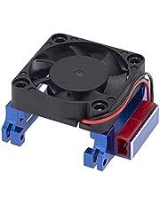 happy time Cooling Fan Heatsink High Velocity Aluminum Radiator Fit for Traxxas Velineon VXL-3S ESC303T06 Slash 4X4 2WD RC Car Repair Parts