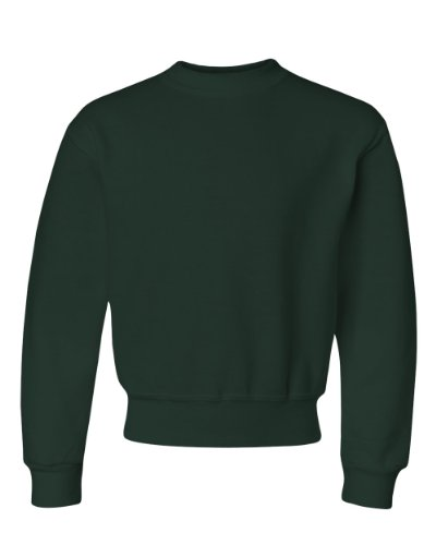 Jerzees Nublend Youth Crewneck Sweatshirt  Forest Green   M