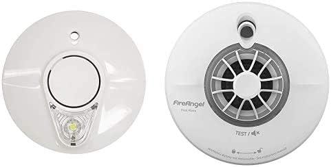 Heat Alarm Kit FireAngel Battery Smoke Alarm with Escape Light