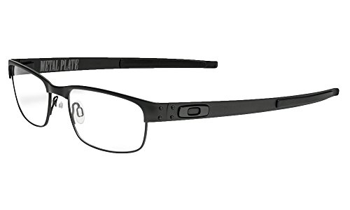 Oakley Metal Plate Eyeglasses New 100% Authentic (Matte Black, 55)