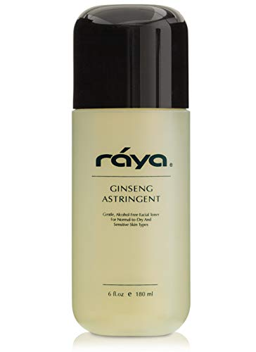 RAYA Ginseng Astringent with AHA 6 oz (G-205) | Gentle Glycolic Facial Toner for Dry and Sensitive Skin | Helps Tighten Pores, Smooth Complexion, and Reduce Fine Lines | Made With Alpha Hydroxy Acids