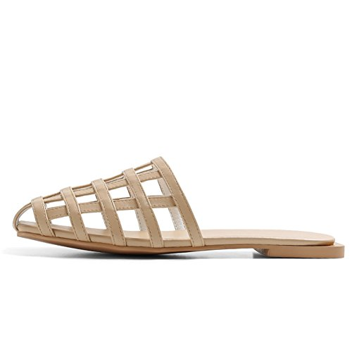 Zapatillas de hueco de desgaste de moda de verano/Europa plana y las sandalias de los estados unidos D