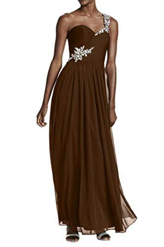 Abendkleider Rock Perlen Chiffon Braut Partykleider Lang EIN Promkleider La Braun Einfach Silber Traeger A mia Linie Pailletten WxzZtHfwFq