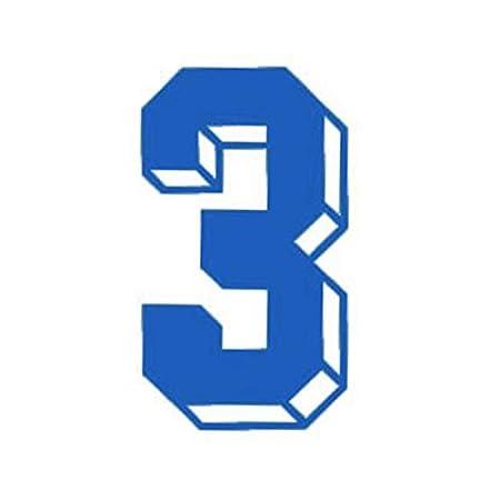 Números Iron-on transferencia de calor para fútbol béisbol Jersey deportes camiseta azul RECHERE az-hm001l-bu1