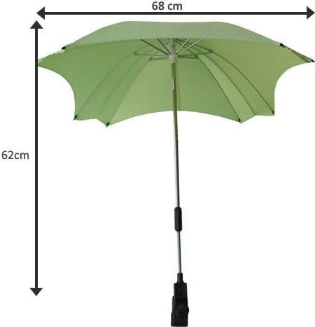 del diametro di 68/cm Ombrello parasole per carrozzina con protezione anti-UV con braccio di fissaggio flessibile