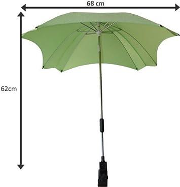 parasol avec protection UV diam/ètre 68/cm, Parasol de poussette universelle avec bras orientable