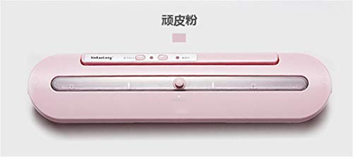 (Household Food Sealer Packaging Machine With 10Pcs Bags Free 220V 110V Automatic Commercial Best Food Sealer Pink AU Plug)