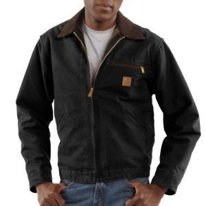 X-Lg Tall Black 12 oz Cotton Sandstone Duck Blanket Lined Detroit (Blanket Lined Sandstone Detroit Jacket)
