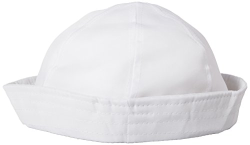 12 white sailor hats - one dz hats fits kids and average adults by Unknown -